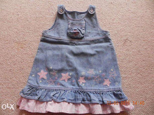 sukienka dżinsowa 9-12 msc 80