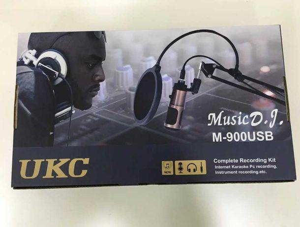 (со стойкой) - микрофон M900 студийный / поп-фильтр / комплект /