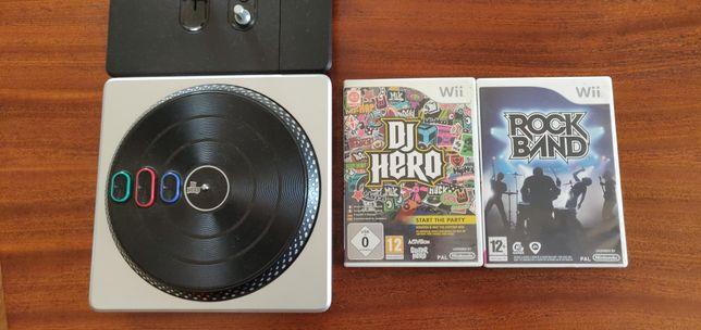 Dj Hero Wii (Mesa de mistura + jogo)