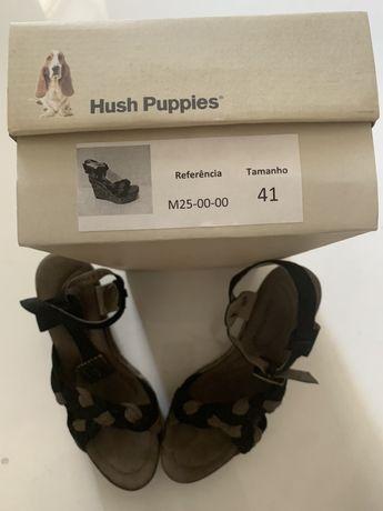 Sandálias novas da marca Hush Puppies T41 Europa 9w USA Envio Grátis