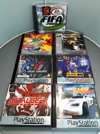 Jogos PlayStation/PS1 Platinum: Ape Escape, MediEvil, Metal Gear Solid