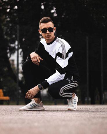 Спортивный костюм Adidas с рефлективом штаны кофта 2 варианта