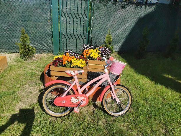 Sprzedam rower dziecięcy kolor różowy z koszykiem. Koła 16