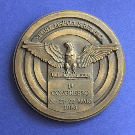 medalha SPORT LISBOA E BENFICA - 1º. Congresso 1988 - 80mm
