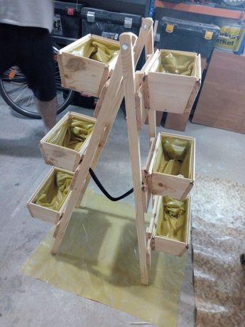 Kwietnik drewniany składany na 6 doniczek