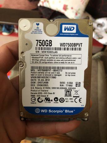 Вінчестер Жесткий диск western digital 750 gb