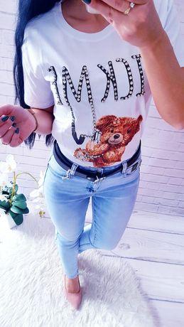 Spodnie jeans lajkra  push up xs s