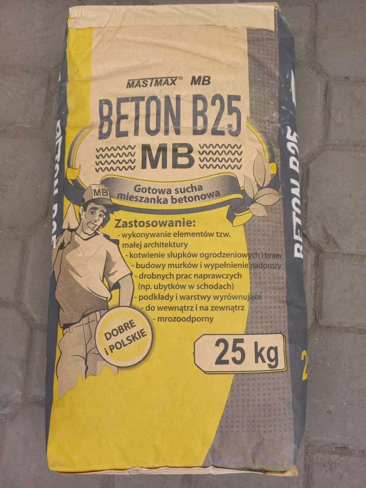 Zaprawa, jastrych betonowy,  BETON 25  MASTMAX  25kg