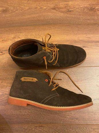 Ботинки полуботинки на осень замшевые
