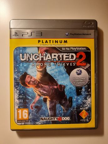 """Jogo Uncharted 2 """"Among Thieves"""" (Platinum) PS3"""