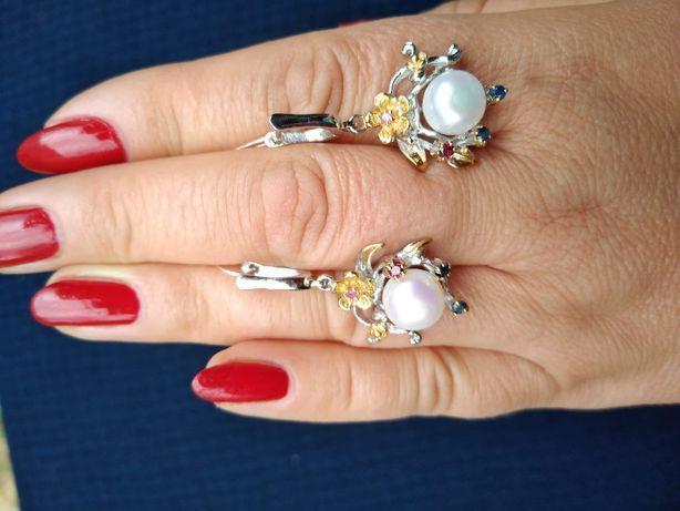 Kolczyki srebrne z naturalna perla!!!
