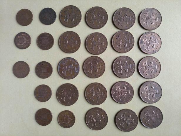 2 pence, 28 monet monety Wielka Brytania, Anglia, Elżbieta II