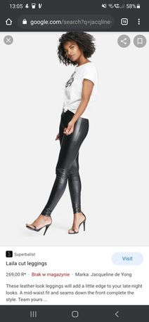 Nowe legginsy eko skóra Jacqueline de Yong
