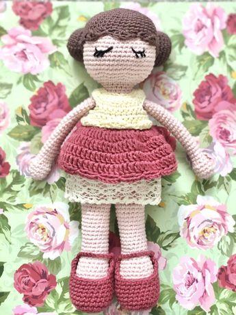 Lala Róża na szydełku amigurumi handmade prezent