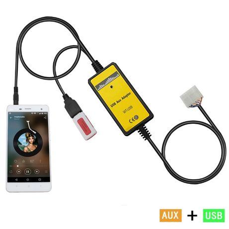 USB AUX MP3 адаптер Toyota Mazda Audi Skoda Volkswagen Honda