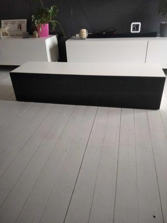 Szafka RTV czarny polysk 140cm