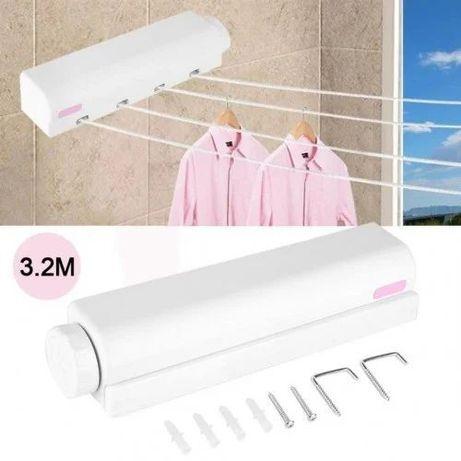 Автоматическая бельевая веревка, выдвижная настенная сушилка для белья