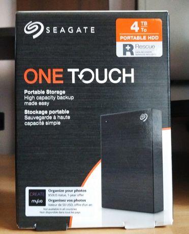 Внешний HDD 4 ТБ Seagate. Жесткий диск USB. Новый + кейс в подарок!