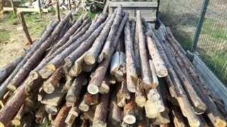 stemple budowlane drewniane - używane na jednej budowie 80 szt.