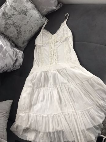 Sukienka biała Cross koronka