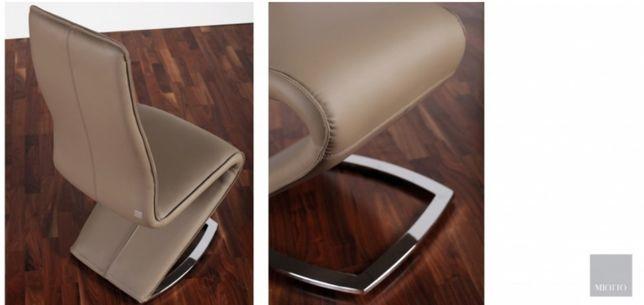 Ekskluzywne krzesła włoskie Miotto Tibaro Design skóra 8szt.