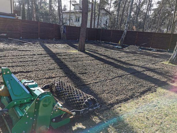 Usługi glebogryzarką separacyjna - Zakładanie ogrodów - trawnik z rolk