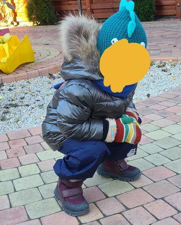 Зимний комбинезон с курткой MONCLER 86-98 р ,зелёный хаки (бутылочный)