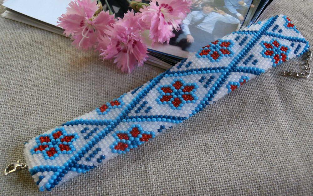 Браслет с цветами Приборжавское - изображение 1