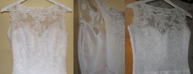 Suknia ślubna z koronką 36