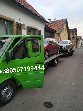 Перевезення UA EU лафета евакуатор автовоз