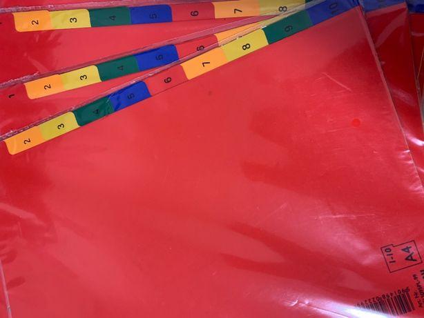 Разделители Donau А4 7712095PL-99 пластик 1-10