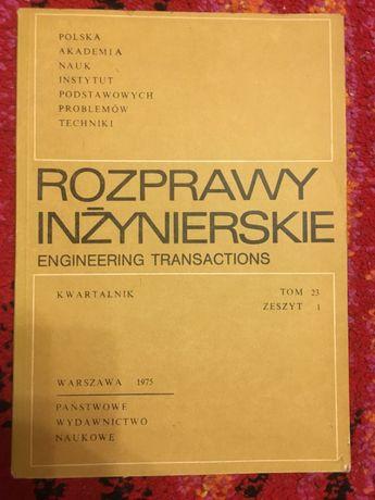 ROZPRAWY INŻYNIERSKIE Pwn Pan 1975 tanie książki techniczne