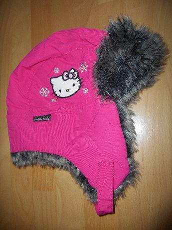 Hello Kitty H&M czapka uszatka jak nowa rozm.122-128