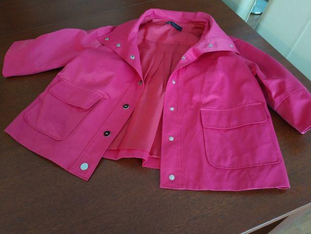 Różowy krótki płaszcz