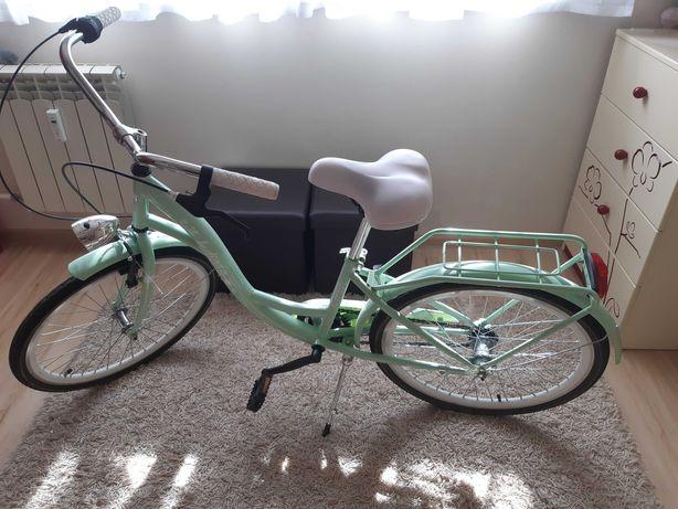 Rower INDIANA Moena 24 cale dla dziewczynki Lazurowy Ideał