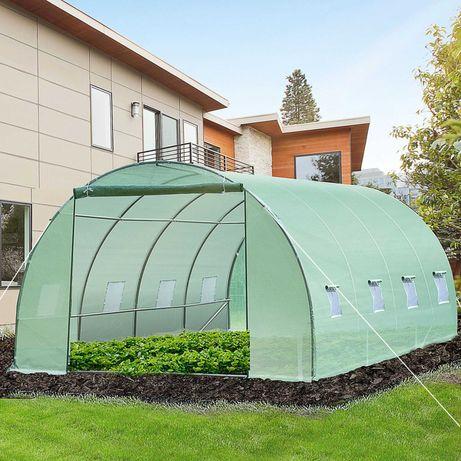 Estufa 6x3x2 m para jardim e cultivo de Aço e Polietileno Verde
