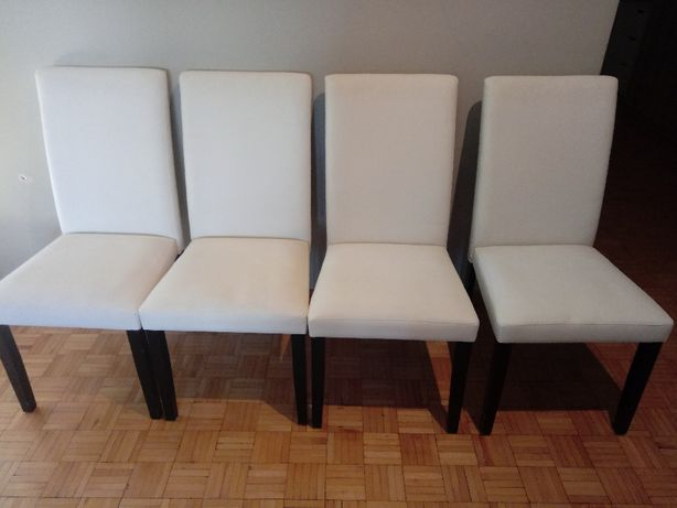 Krzesła Komplet krzeseł Agata meble białe i 2 gratis