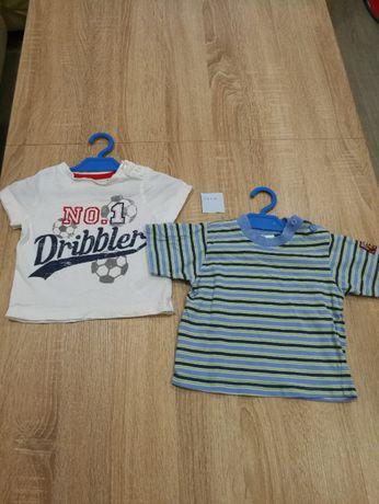 Dla chłopaka, r. 0-3m-ce i 62/68, 4szt, ogrodniczki, koszulka, bluzka