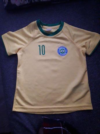 Koszulka sportowa BRASIL dla małego fana piłki nożnej Stan bardzo dobr