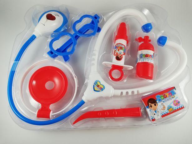 Zestaw lekarski dla dzieci zabawa w doktora torba walizka