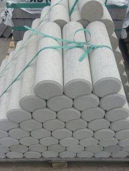 Palisada betonowa 40cm okrąga fi 10 cm Ładna 10,5 szt/mb