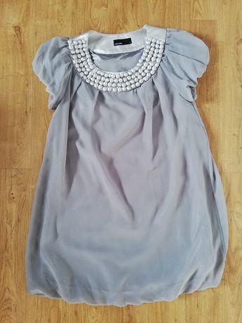Srebrna sukienka karnawałowa Vero moda rozm. M