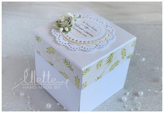 Exploding box pudełko prezent z okazji ślubu