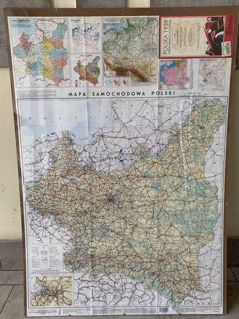 MAPA POLSKA 1939 - szyba plexi, wystrój wnętrz, gadżet, historyczna