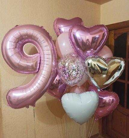 Воздушные гелиевые шарики, шары с гелием, повітряні кульки з гелієм