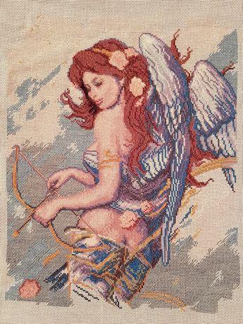 """По мотивам К. Банга """"Ангел с луком"""" вышитая картина"""