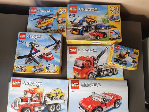 Lego CREATOR 3in1 - różne zestawy, komplet