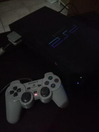 PS2 + comando com oferta de jogo