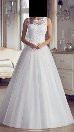 Piękna Suknia Sukienka Ślubna (OFELIA) 34 XS