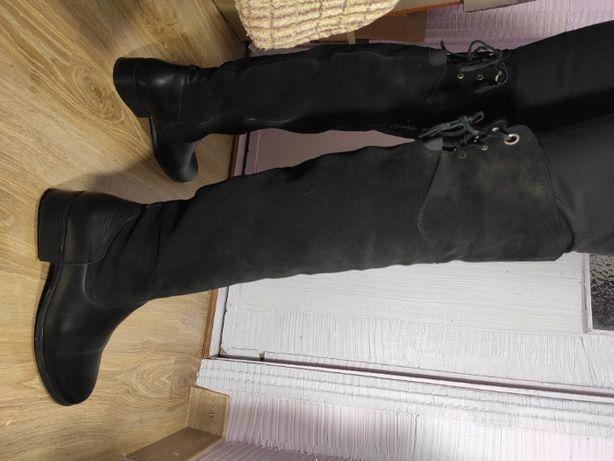 Сапоги женские замшевые высокие ботфорт BIBA 40 р 26 см оригинал